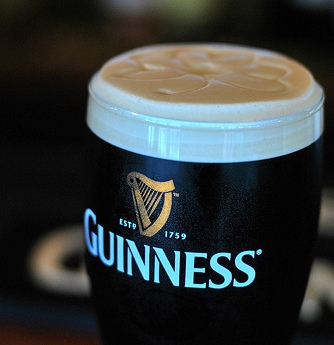 Guinness on St. Patrick's Day
