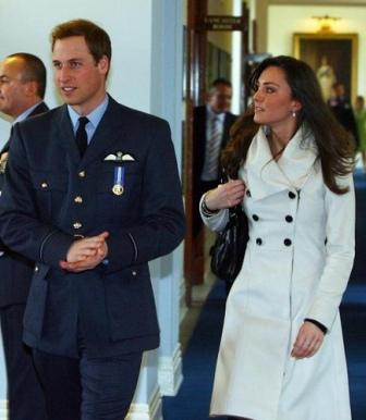 Prince William with Fiance Kate Middleton