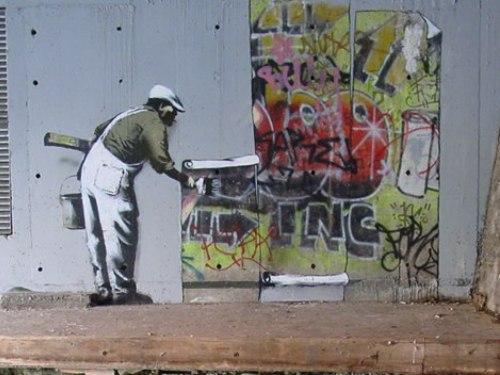 Banksy Painted Over