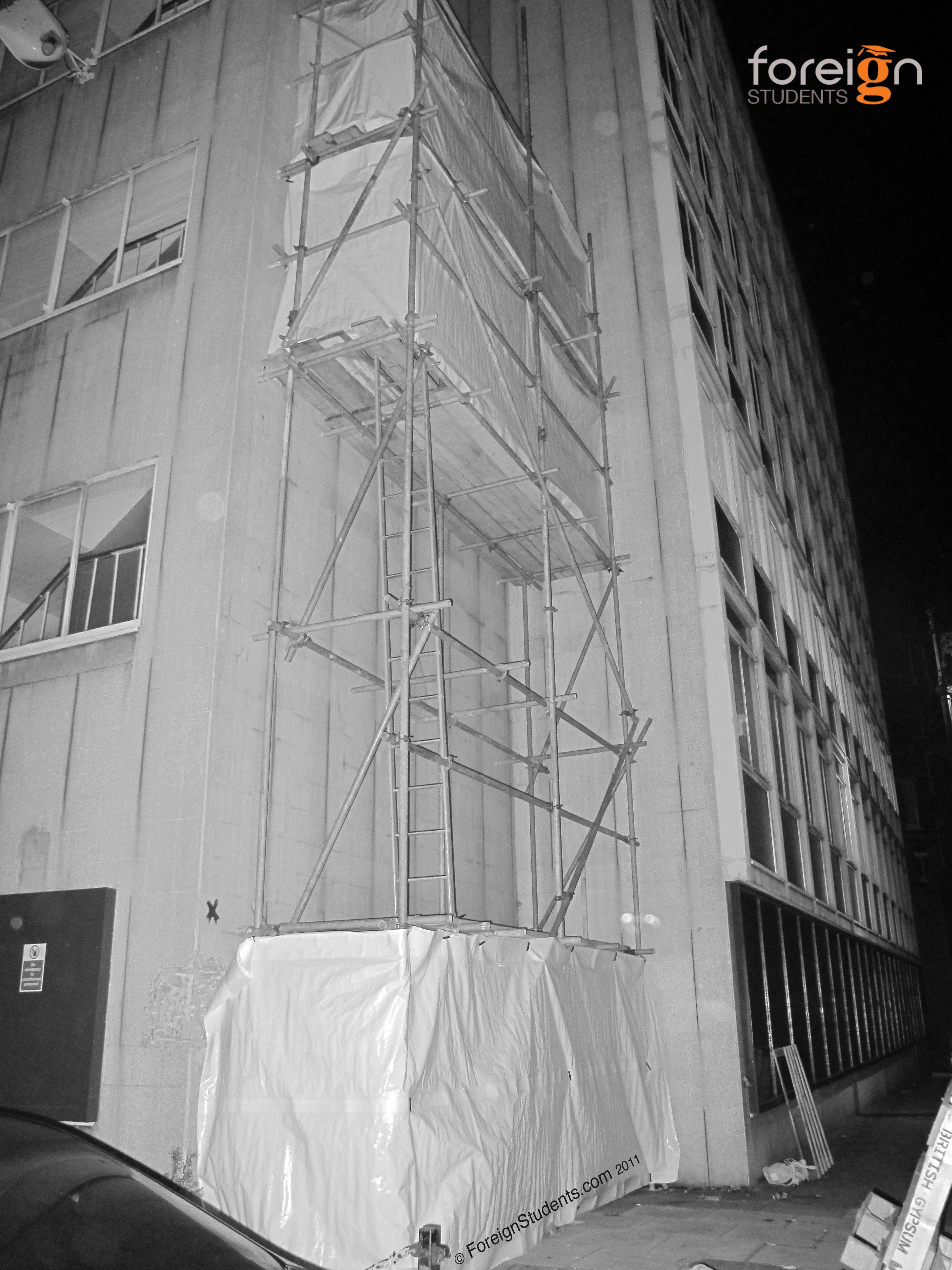 Scaffolding at Night