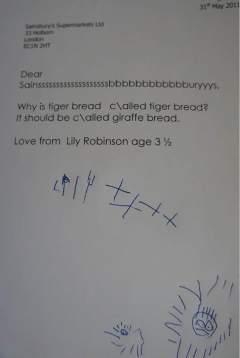 Sainsburys Letter